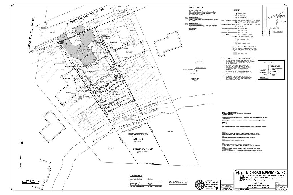 Services we offer michigan surveying inc Residential building plan sample